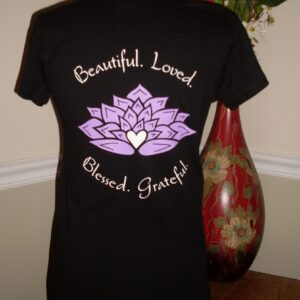 Beautiful.Loved.Blessed.Grateful. - Short Sleeve (Back View)
